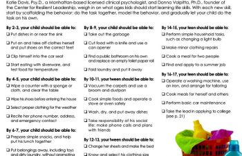 'Life Skills to Teach Your Child' article screenshot